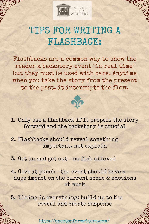 One Stop Flashback Tips Writing Writing Tips Writing