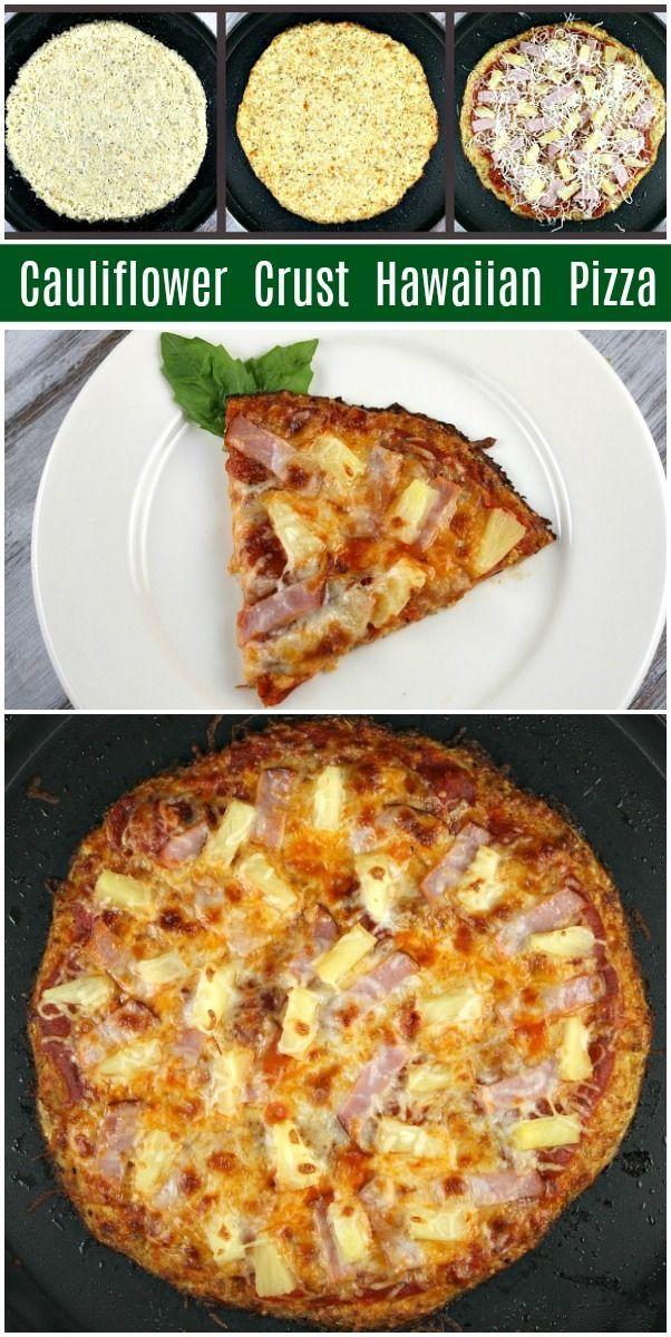 Cauliflower Crust Hawaiian Pizza Rezept von  ...   - Gluten Free Recipes -