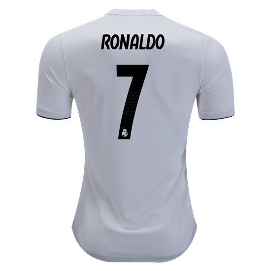 a9738c2ce 2018 2019 Cristiano Ronaldo Jersey Number 7 Home Authentic Men s Real Madrid  Team
