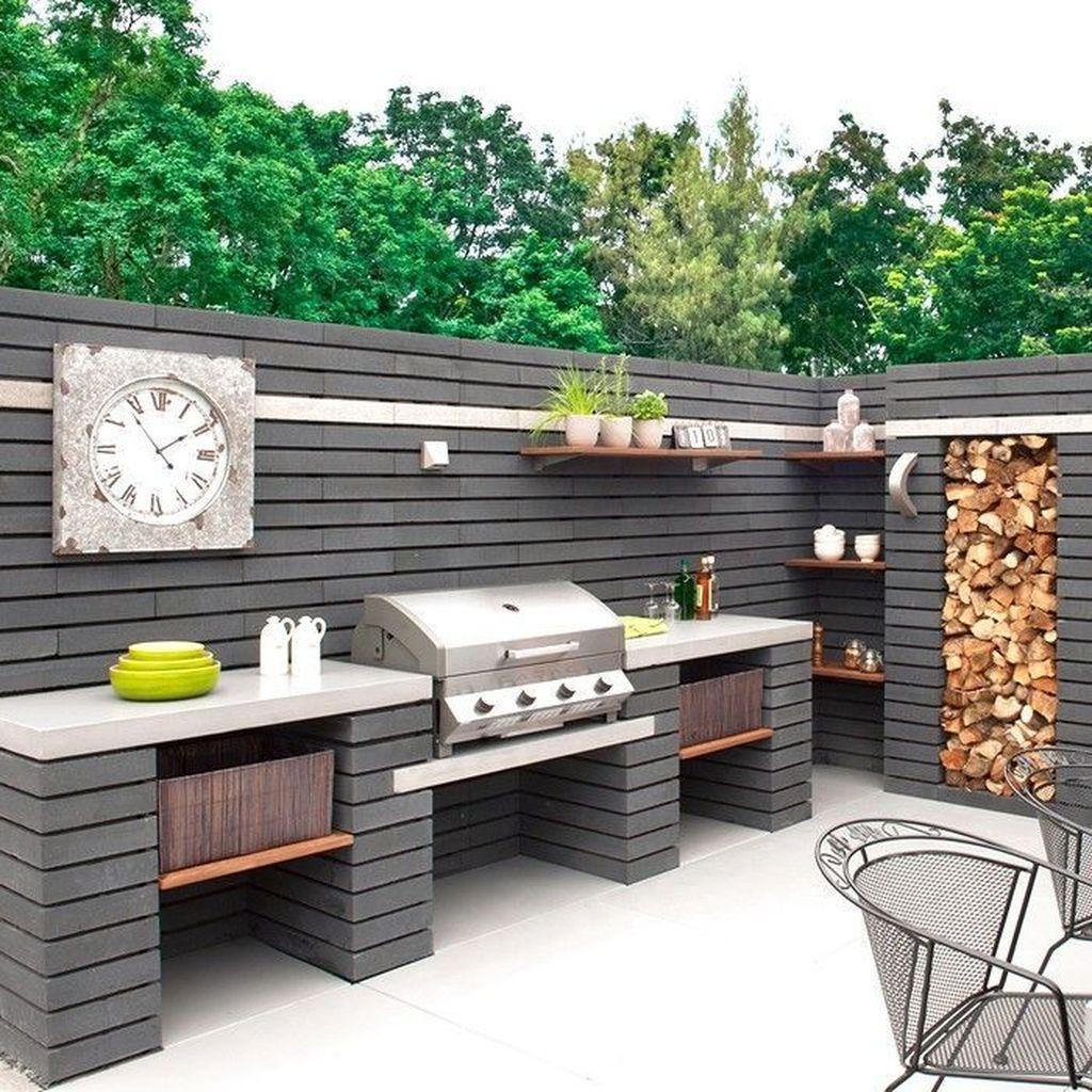 37 Beautiful Modern Outdoor Kitchen Design Ideas Modern Outdoor Kitchen Outdoor Kitchen Decor Small Outdoor Kitchens