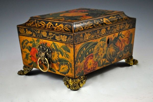 Penwork Sewing Box (United Kingdom) ca.1815.