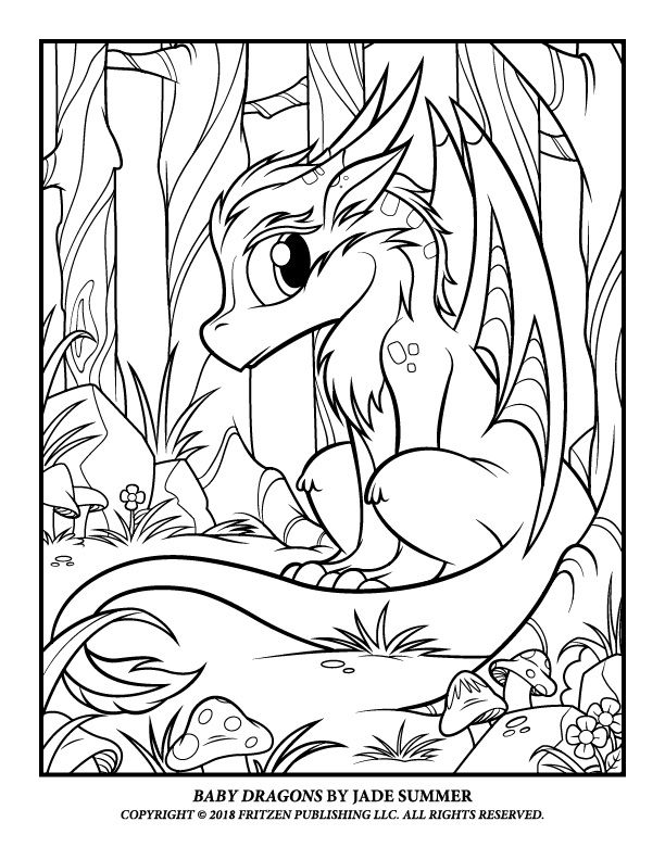 Baby Coloring Pages Of Dragons Novocom Top