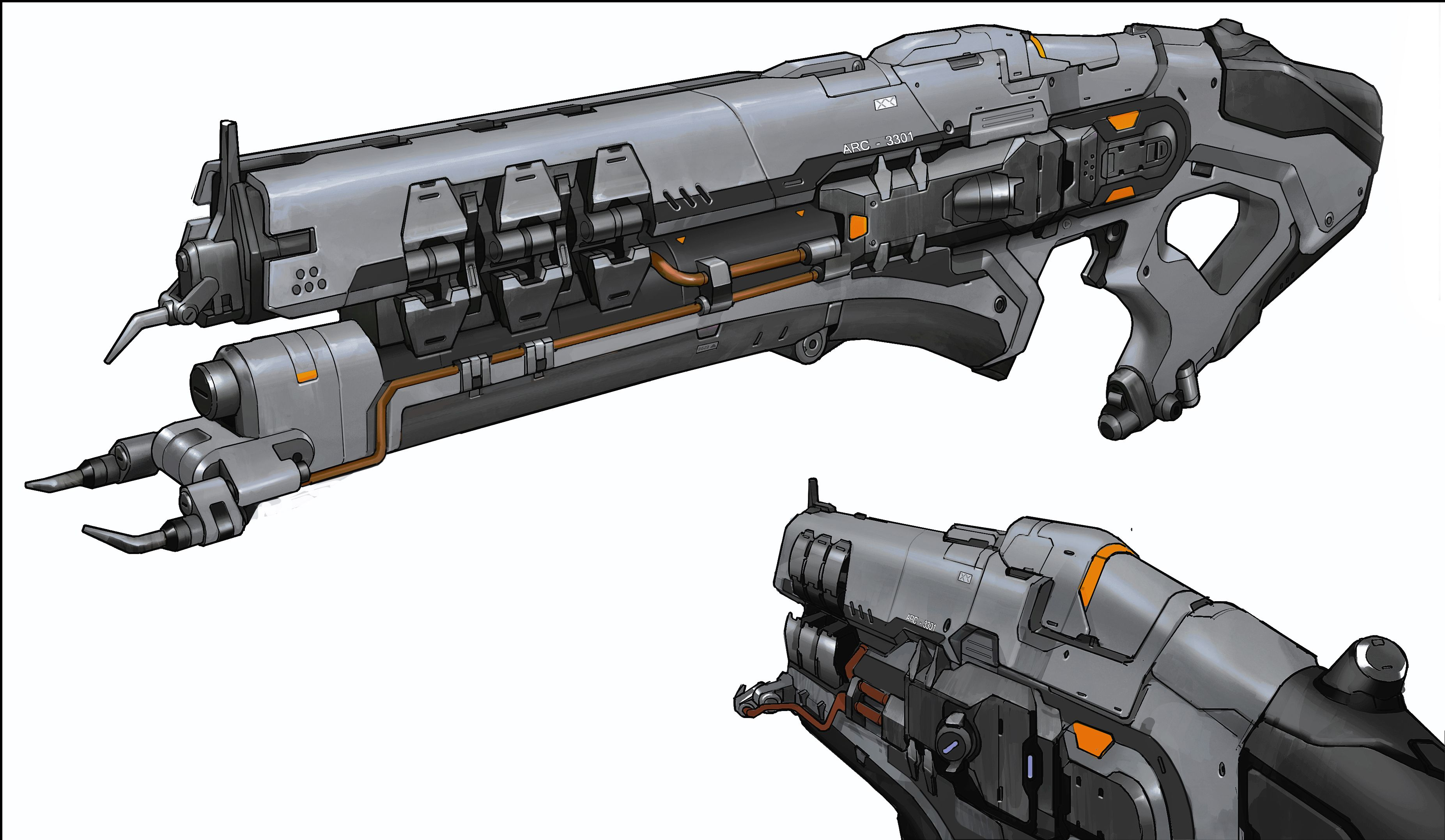 Doom Shotgun Concept Art