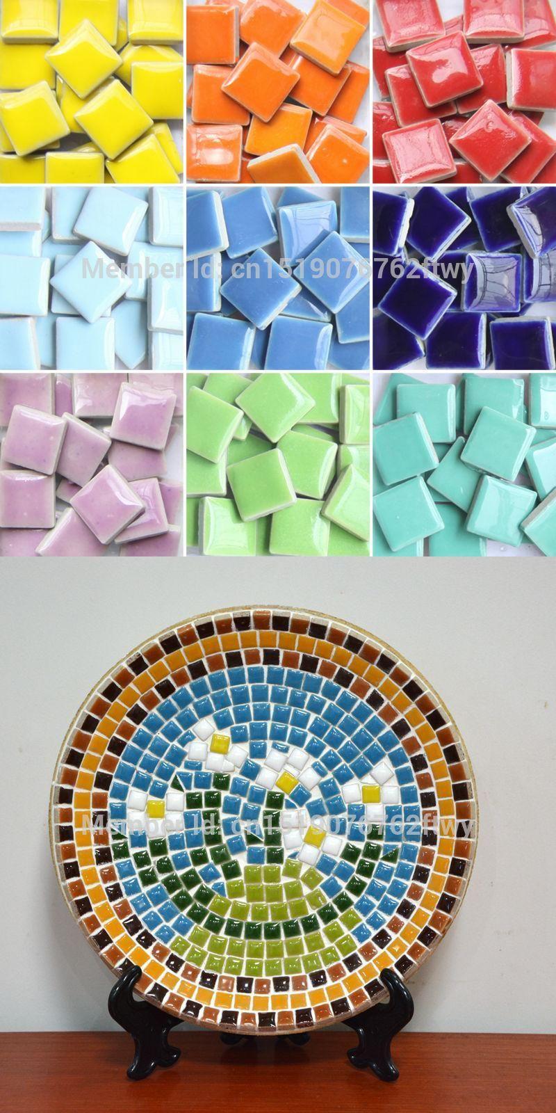 Garden Decorative Tiles Colorful Ceramic Mosaic Tiles 200 Pcs Natural Decorative Stones