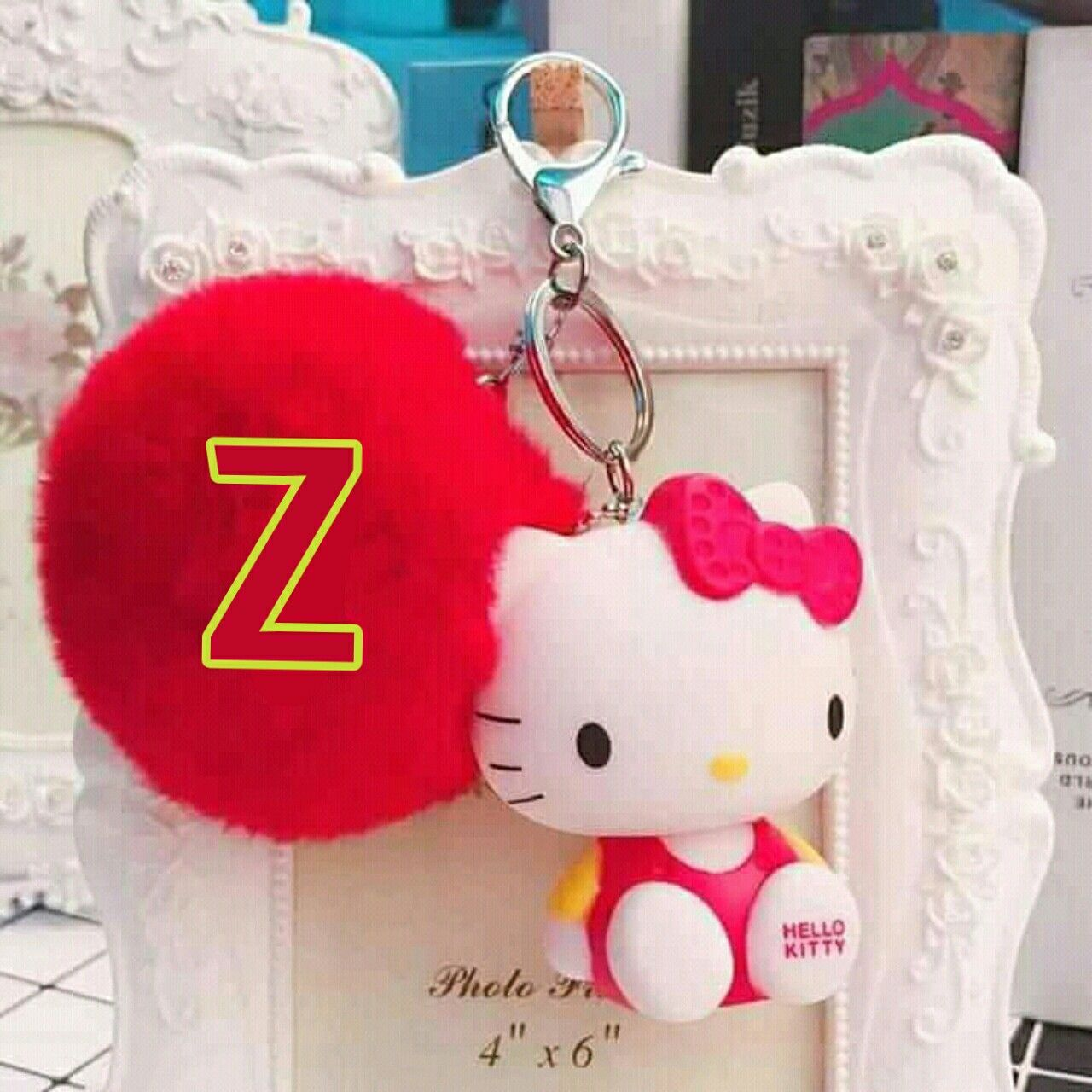 Letter Z Making By Qwrites Qaisarrafique45 Hello Kitty Keychain Hello Kitty Photos Hello Kitty