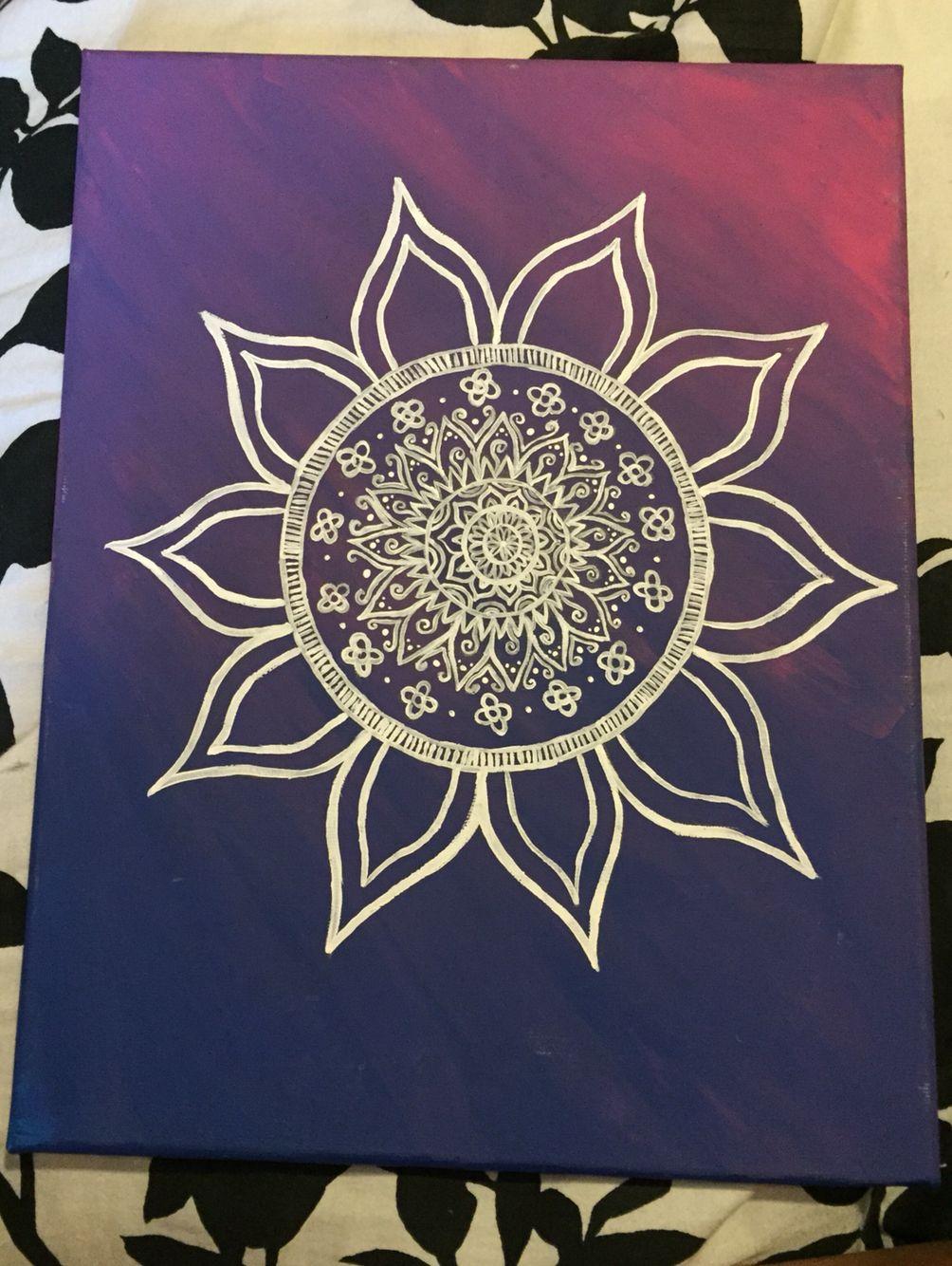 Mandala canvas crafting madness pinterest mandala for Easy art designs to paint