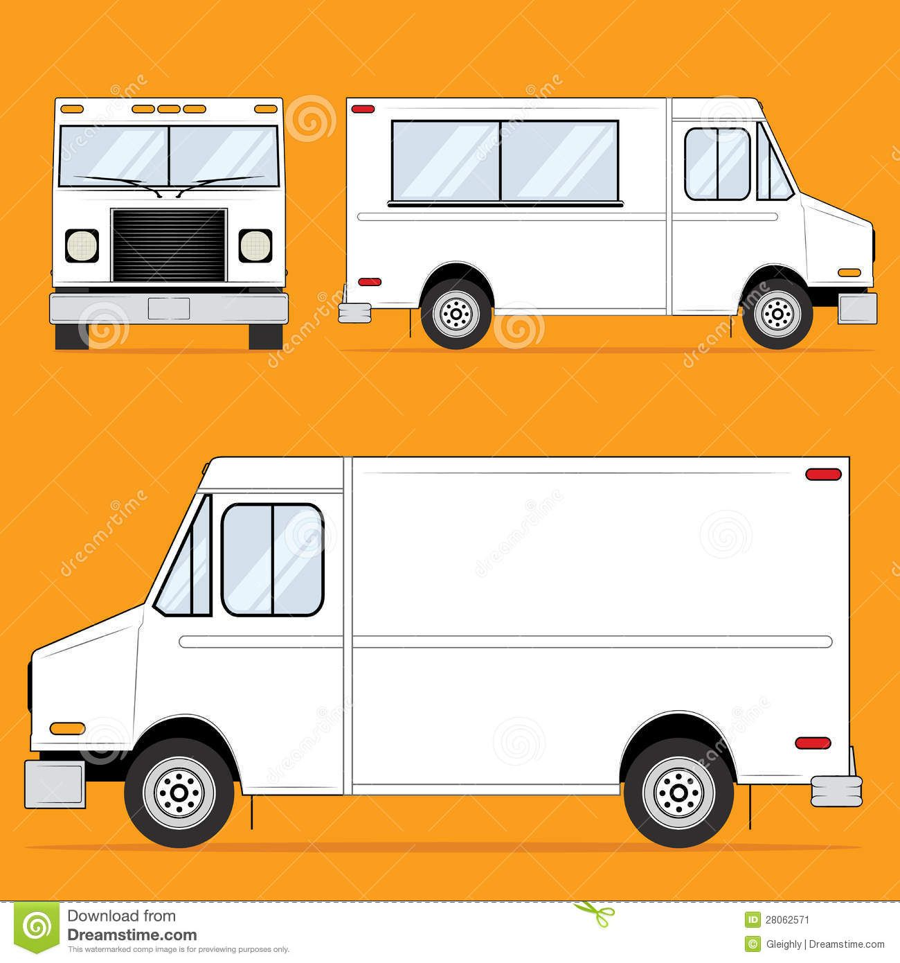 Food truck blank stock image image 28062571 proyectos for Food truck blueprint