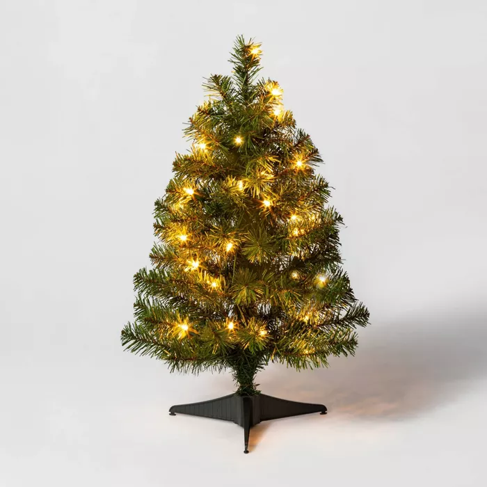 2ft Prelit Artificial Christmas Tree Alberta Spruce With