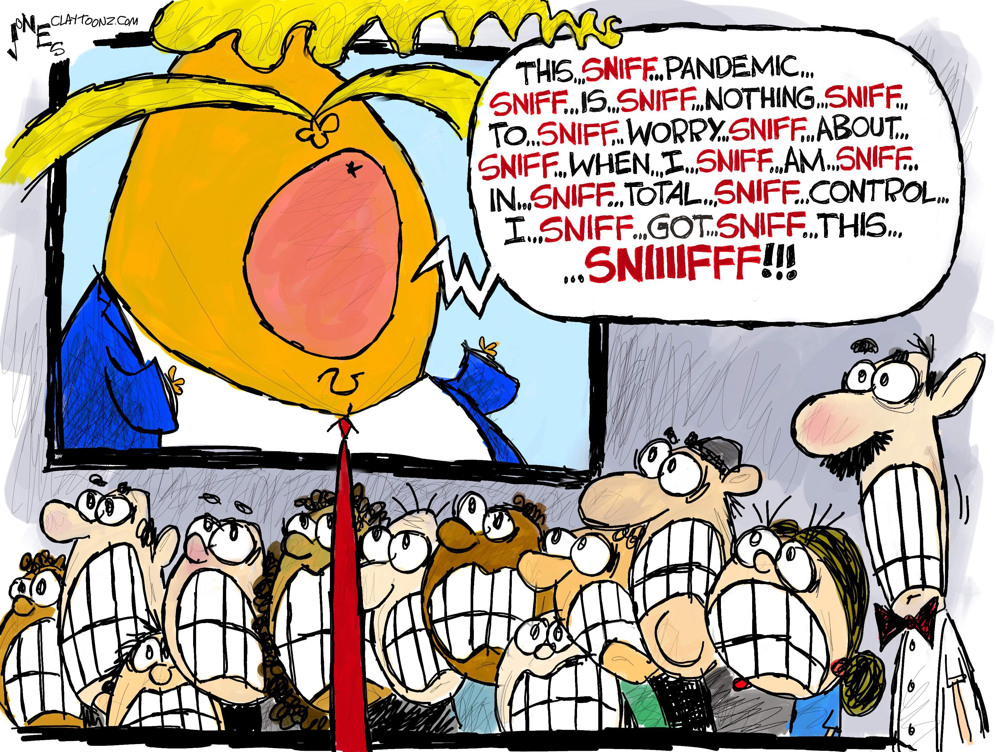 Sniffy S Got This In 2020 Editorial Cartoon Today Cartoon Trump Cartoons
