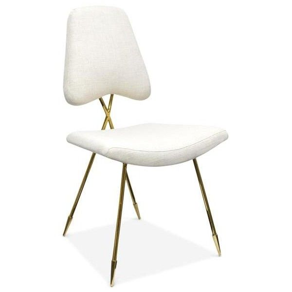 Стул Jonathan Adler Maxime Dining stool via Polyvore featuring home, furniture, stools, jonathan adler и jonathan adler furniture