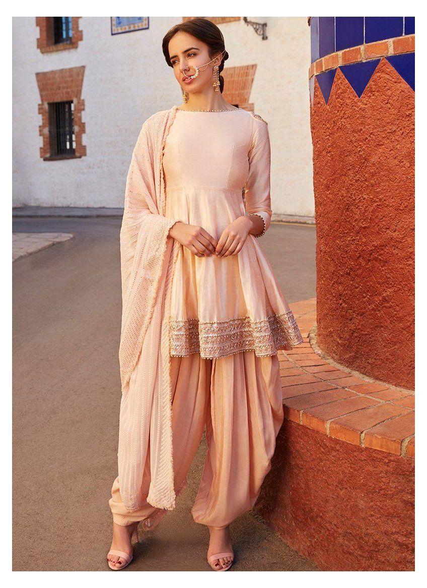 Readymade Salwar kameez From India Stitched Punjabi Designer Dhoti Kurta Bollywood Style Suit Pakistani Indian Short Kurta Palazzo Set