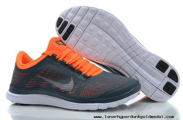 timeless design 145c5 0249c Mens Nike Free 3.0 V5 Dark Armory Blue White Total Orange Shoes