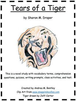 tears of a tiger novel study teaching ideas pinterest school rh pinterest com Tears of a Tiger Characters Tears of a Tiger Keisha