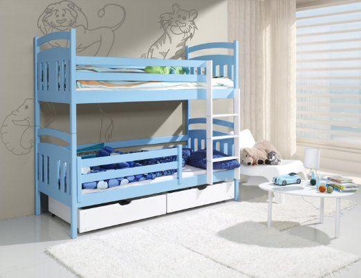 Etagenbett Mit Doppelbett : Etagenbett kinderbett hochbett seba stockbett mit matratzen