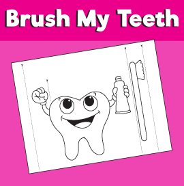 Child Brushing Teeth Printable Craft Body Preschool Printable
