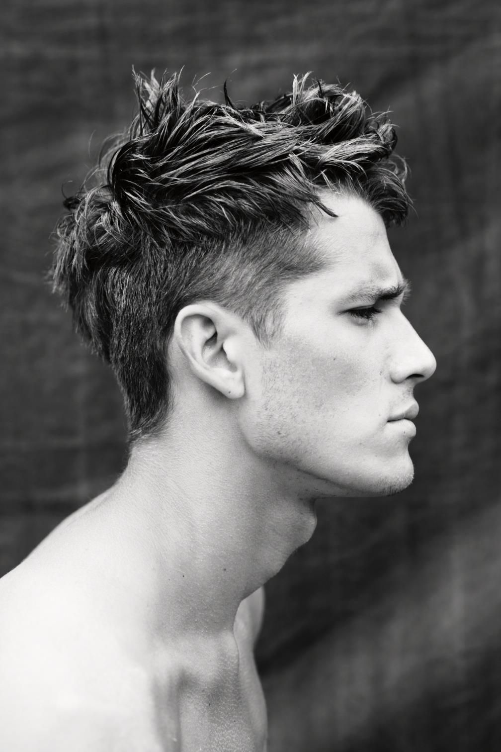 Mens short undercut haircut andrey zakharov  for the man  pinterest