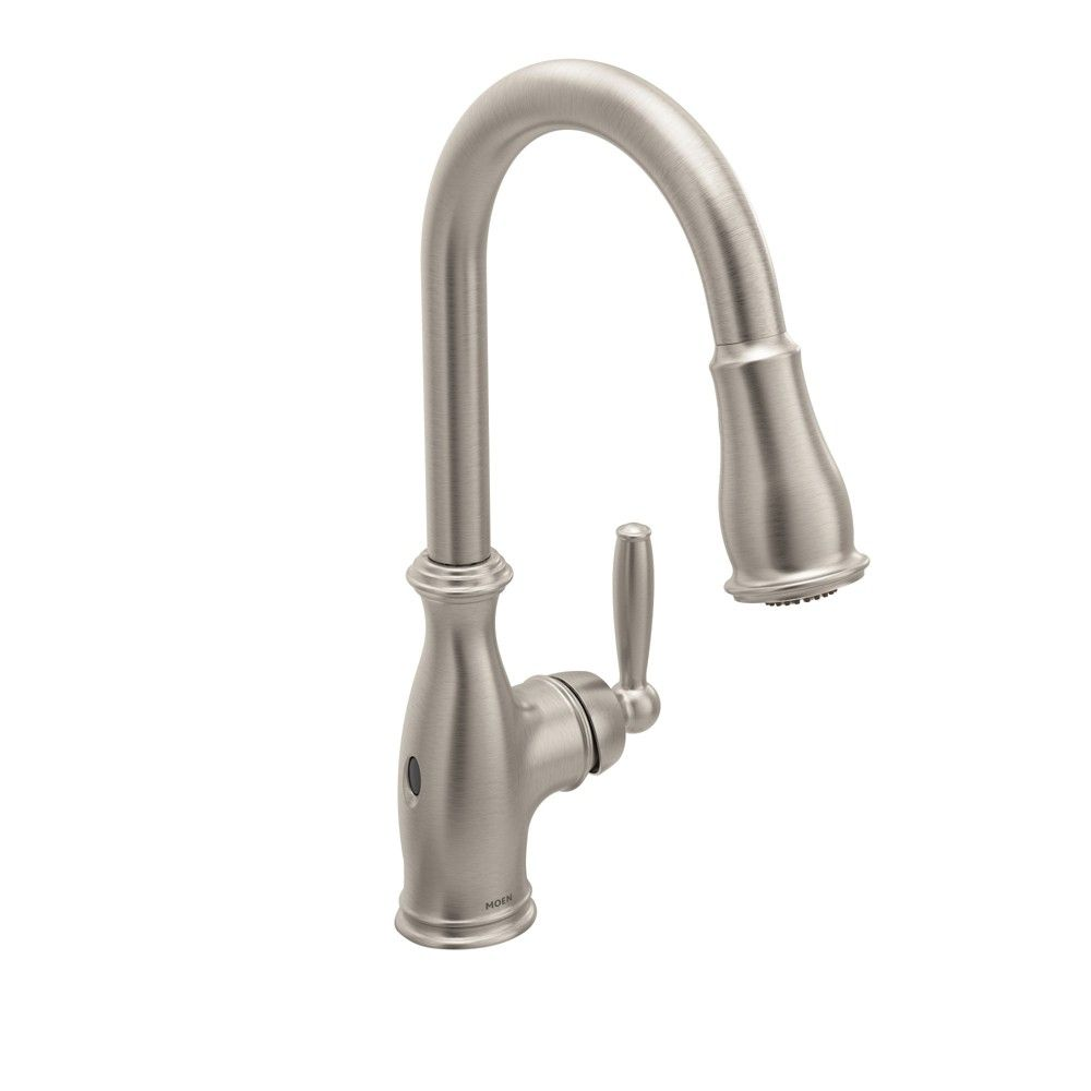 Moen 7185ew Brantford 1 5 Gpm Single Hole Pull Down Kitchen Faucet