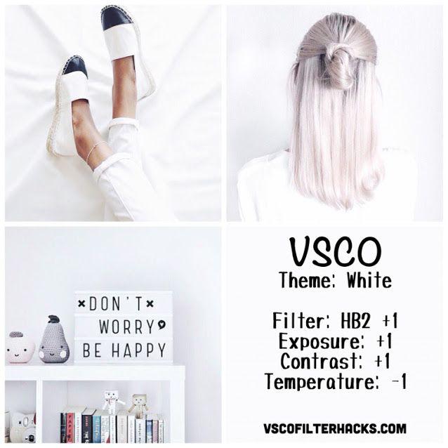 White Instagram Feed Using Vsco Filter Hb2 Theme Instagram Filtre Vsco Vsco Photographie