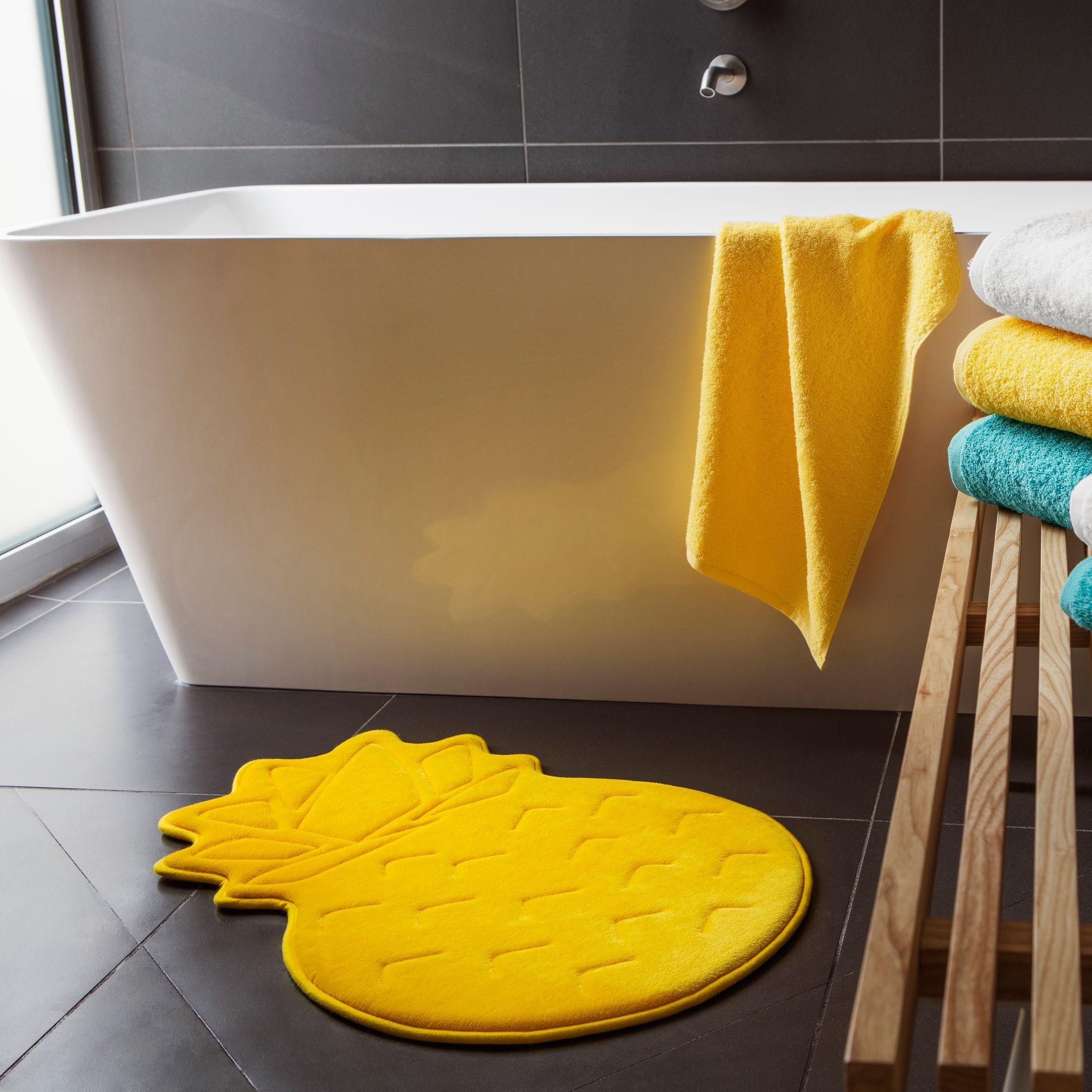 Pineapple memory foam bath mat 47 x 70 cm in 2018 | Pineapple ...