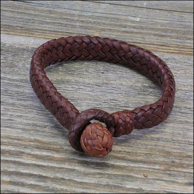 The 16 Strand Mens Leather Bracelet   Etsy   Leather ...