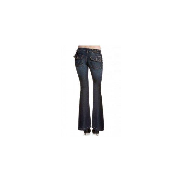 Basic Trouser Flap Pocket Flare ❤ liked on Polyvore