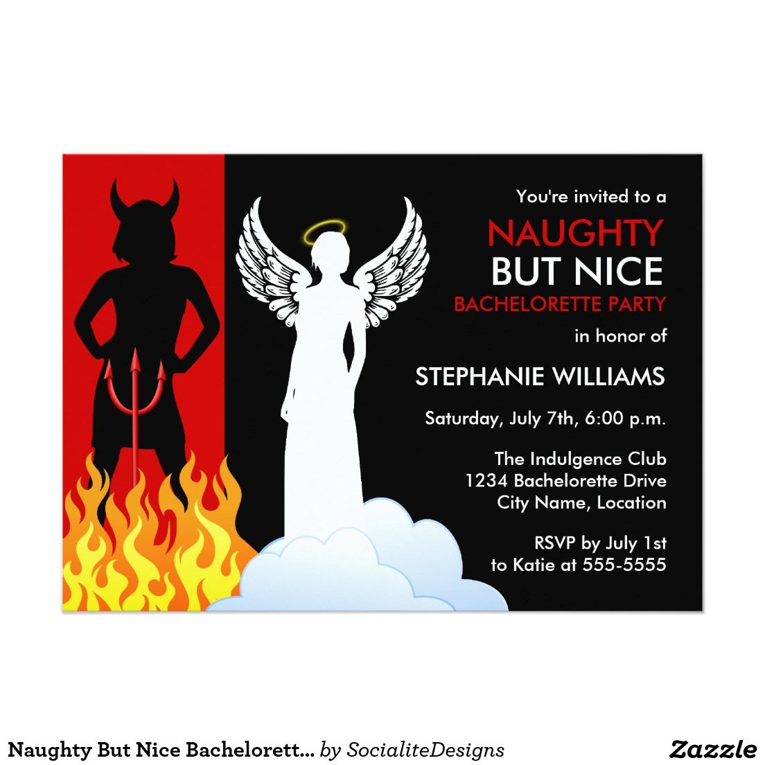 Naughty but nice bachelorette party invitation bachelorette parties naughty but nice bachelorette party invitation monicamarmolfo Image collections
