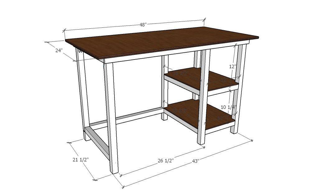 Farmhouse Desk Building Plans Diy Wood Desk Diy Desk Plans Diy Furniture