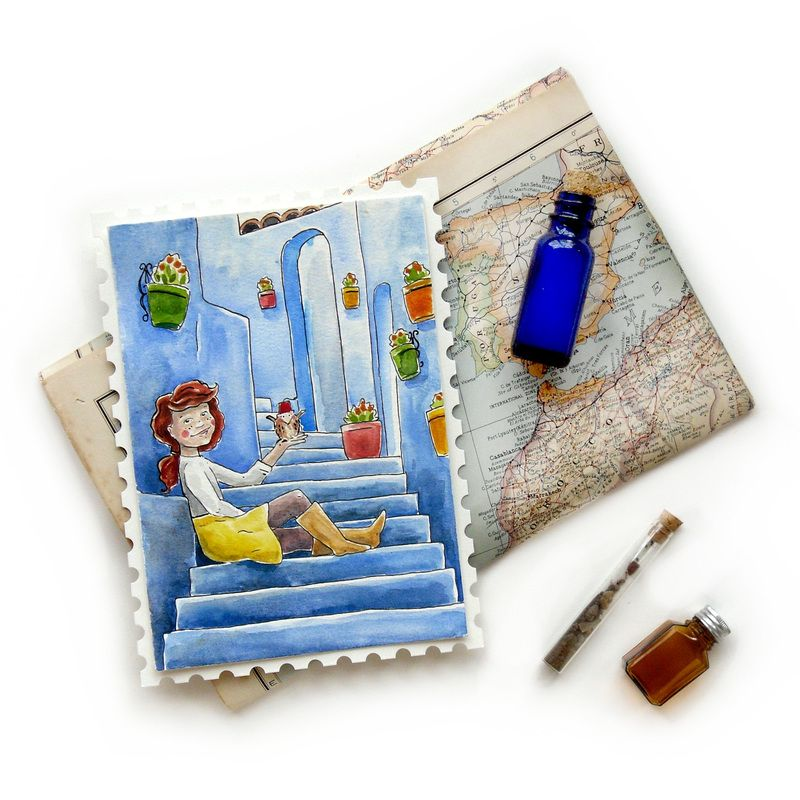 "#PostcardsfromPennyandLane Morocco's ""Blue City"""