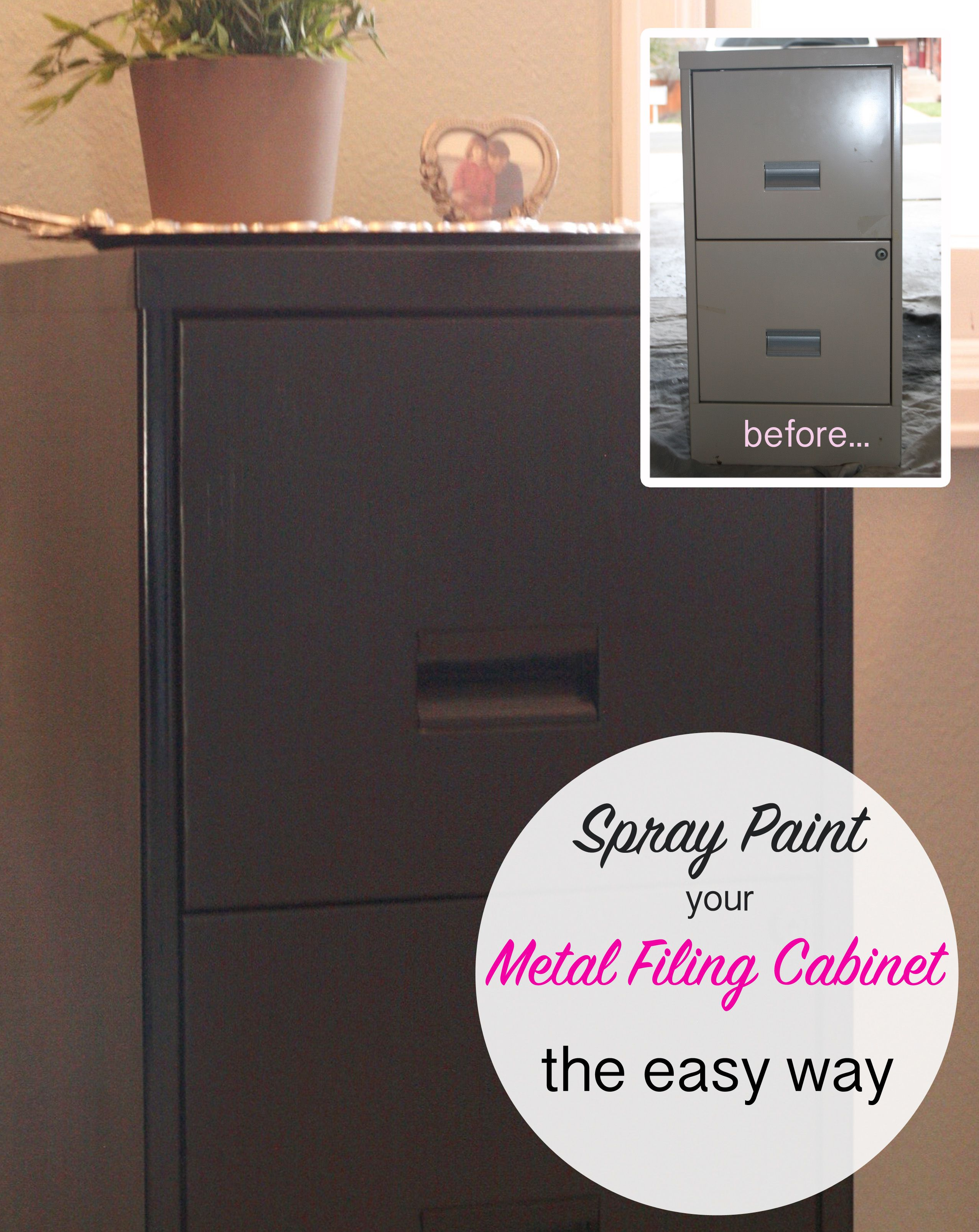 Bon How To Spray Paint A Metal Filing Cabinet. The Easy Way!
