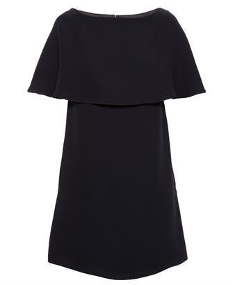 VALENTINO - Silk Crepe Cape Dress