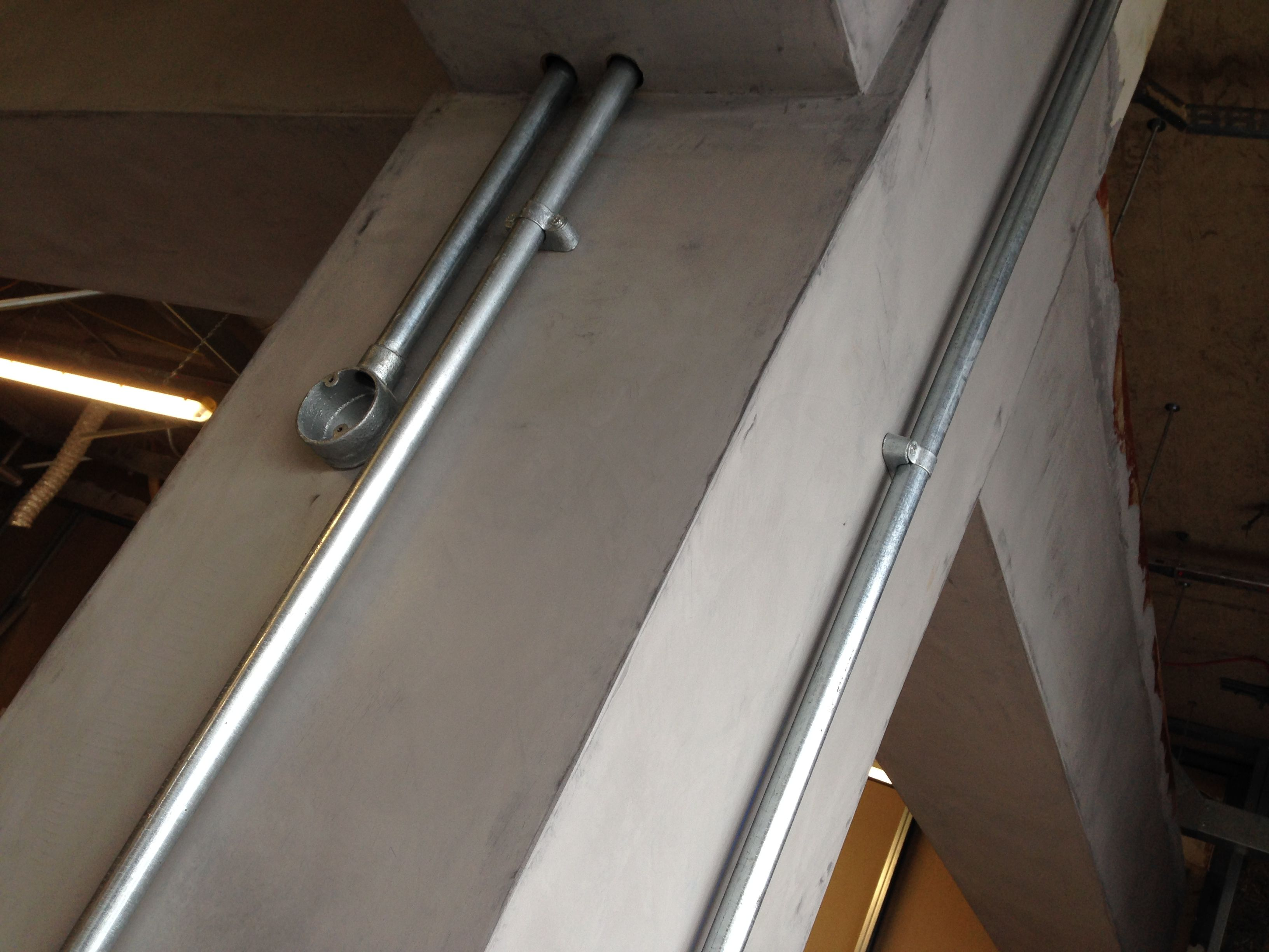 Concrete Piers With Industrial Conduit Concrete Concrete Wall Wall Finishes