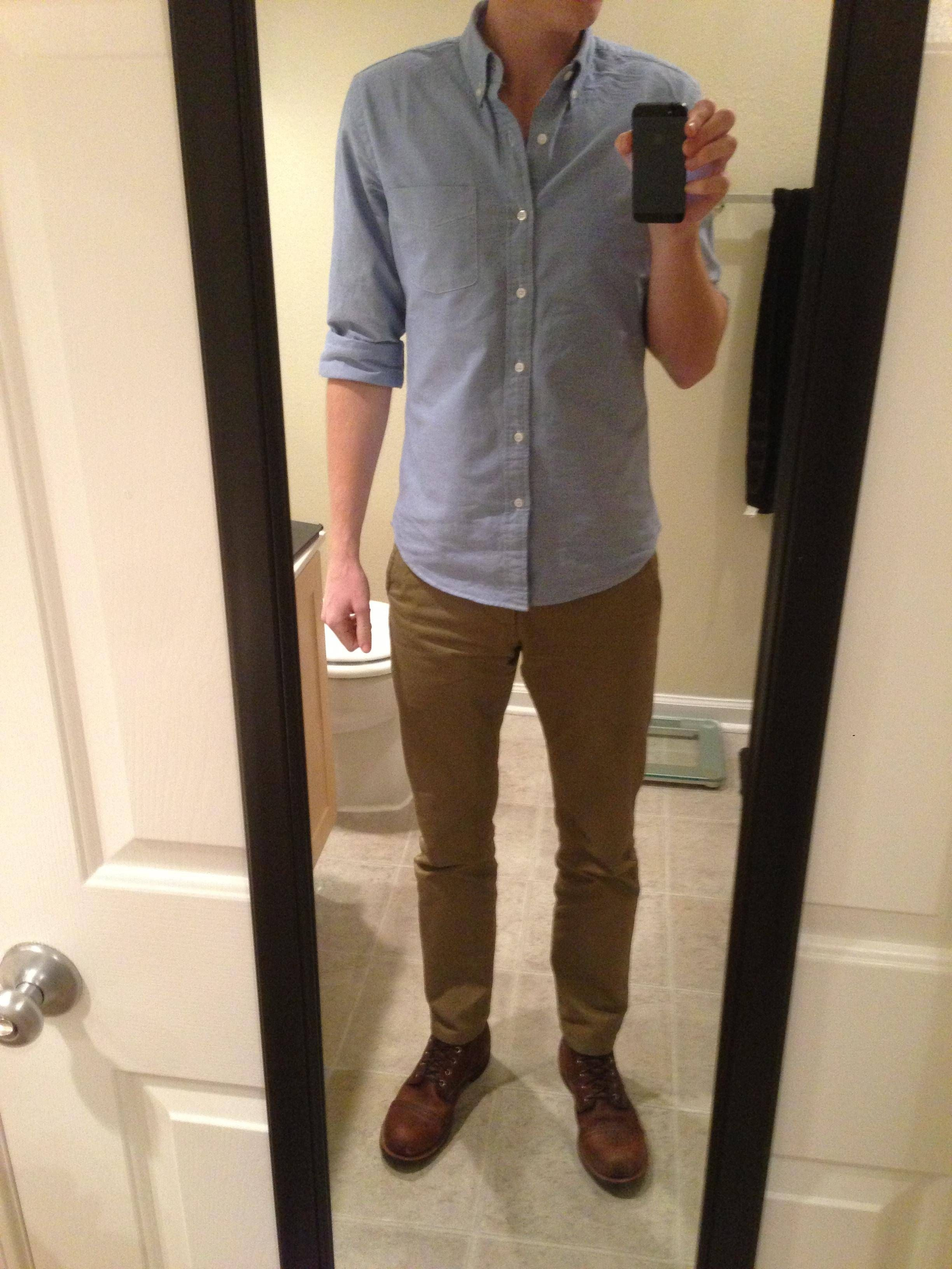 what to wear with tan chinos