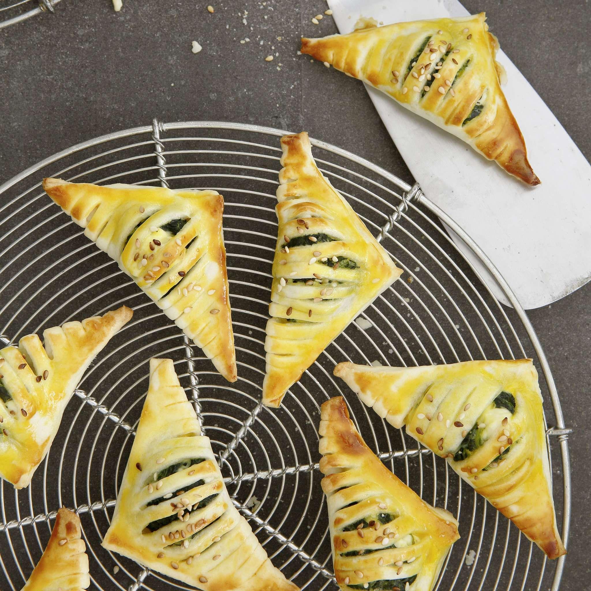 Mini Spinat Jalousie Rezept Mit Bildern Lebensmittel Essen Kochen Und Geniessen Spinat