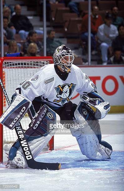 Nov 1999 Goalie Dominic Roussel Of The Anaheim Mighty Ducks Is Ready Picture Id72555542 398 612 Ducks Hockey Goalie Hockey Goalie