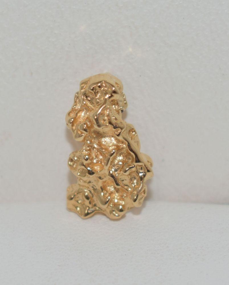 k yellow gold nugget pendant grams pinterest pendants and