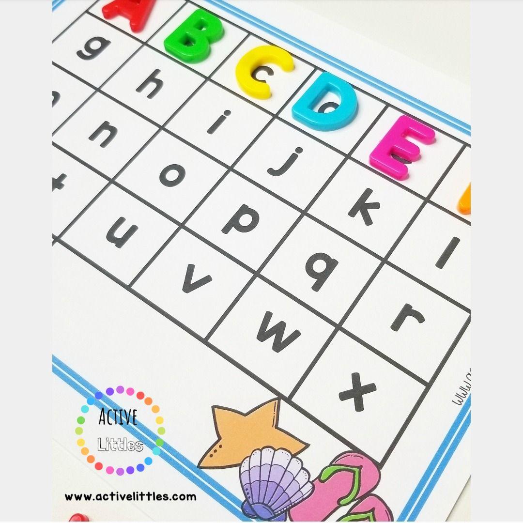 Summer Fun Alphabet Match Activity