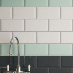 Wickes Metro White Ceramic Tile 200 x 100mm | White ceramics and ...