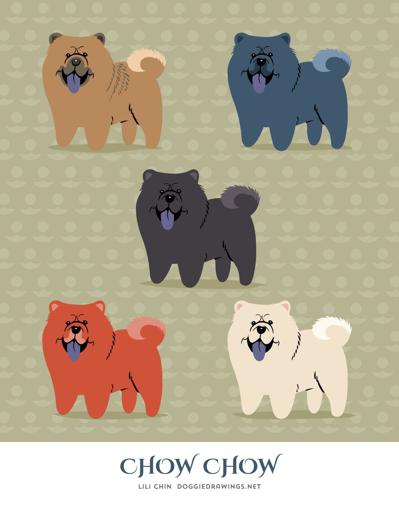 Chow Chow By Lili Chin From Dog Colors On Tumblr Chow Chow Chow