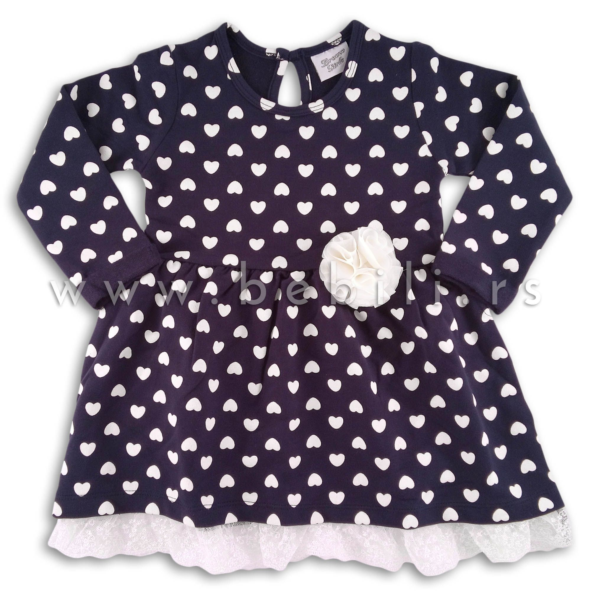 Haljina Za Devojcice Breeze White Heart Kids Dresses Fashion Tops