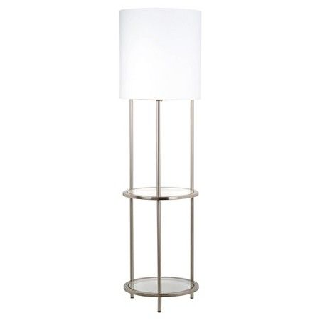 Glass Shelf Floor Lamp - Silver (Includes CFL Bulb) - Threshold ...