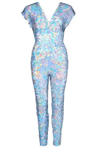 d32cf7c3796 silver hologram jumpsuit rosa bloom