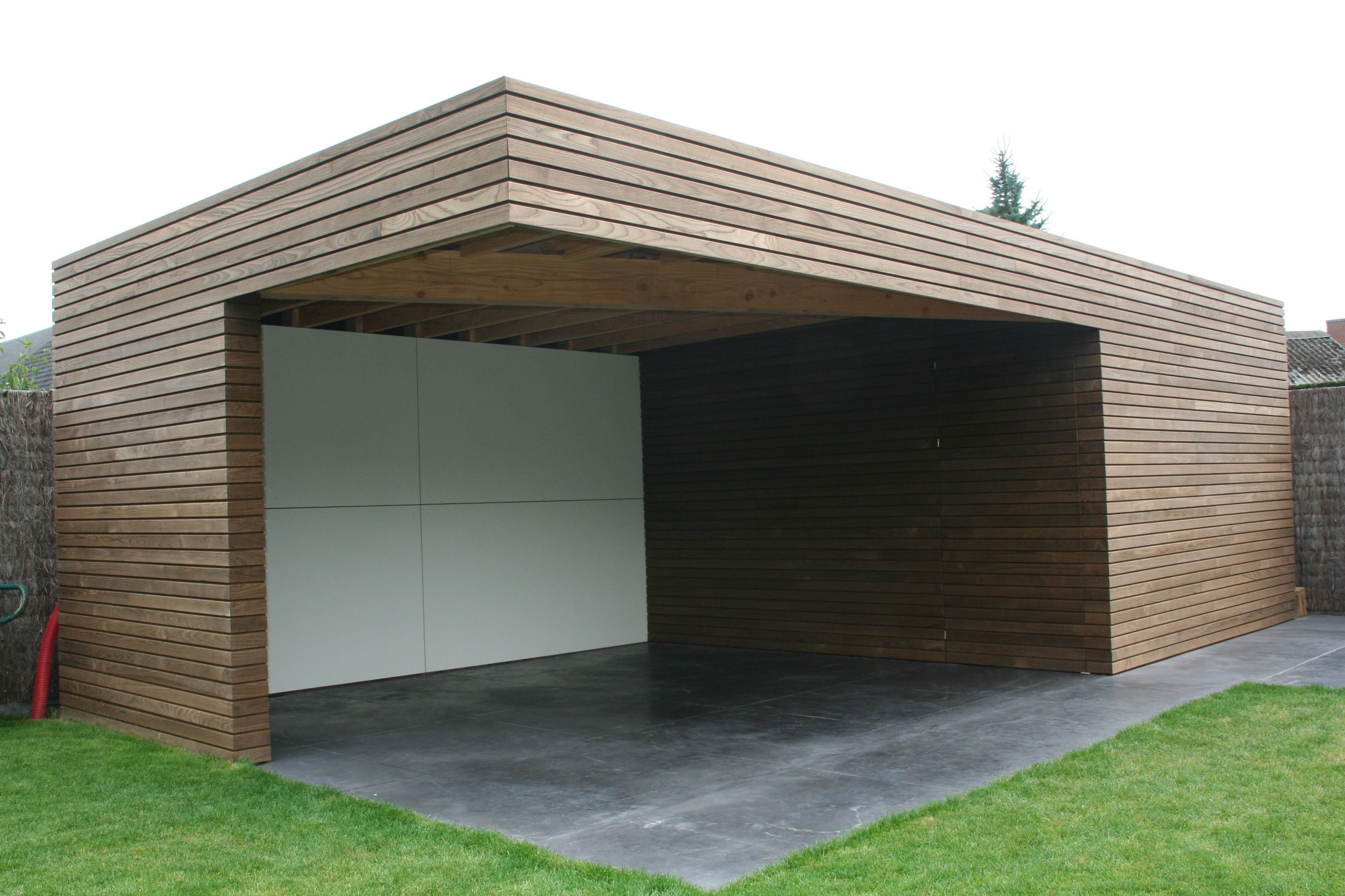 Houten gevelbekleding google zoeken hout pinterest for Contemporary carport design architecture
