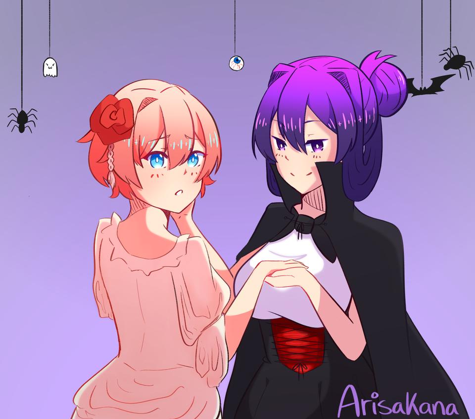 I Don T Ship Yuri And Sayori But That Is Cute Literature Club Yuri Literature