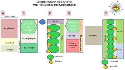 Ewa in the Garden: Vegetable garden plan 2010 - revised