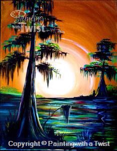 Painting With A Twist Pwat Paintingwithatwist Shining Copper Bayou