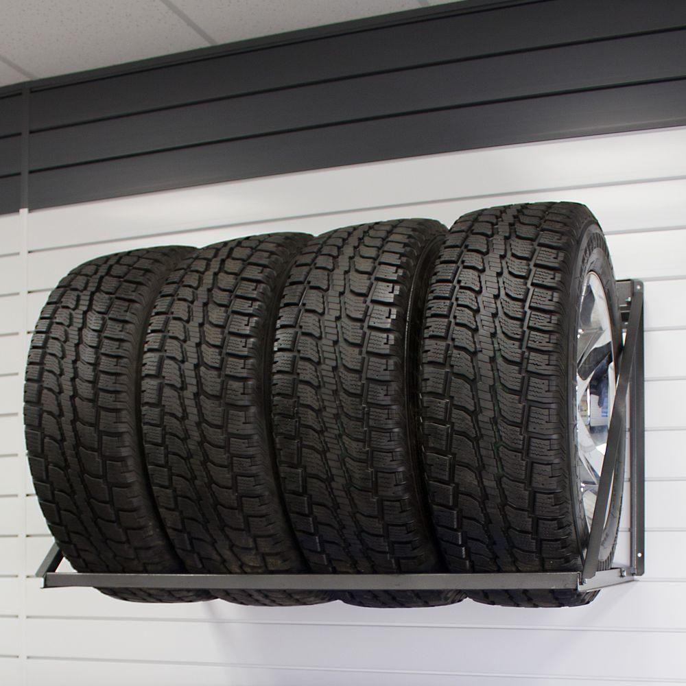 Proslat 28 in. H x 48 in. W 4Tire WallMount Tire Rack