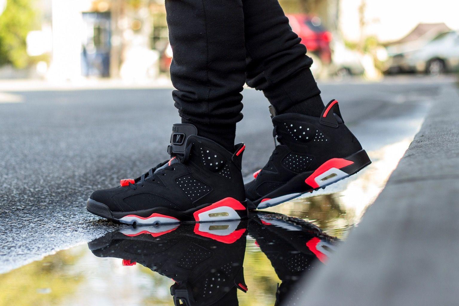 Air Jordan 6 Retro Black Infrared Air Jordans Sneaker Collection Jordans