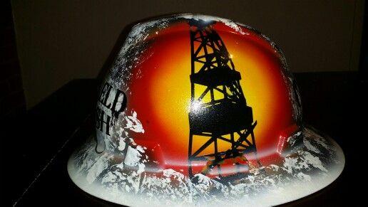 86371df51 Oilfield Trash Custom hard hat ZimmerDesignZ.com | Hard hats ...