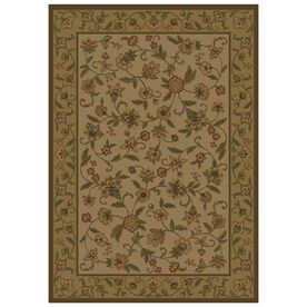 Shaw Living Alice Rectangular Multicolor Fl Area Rug Common 8 Ft X