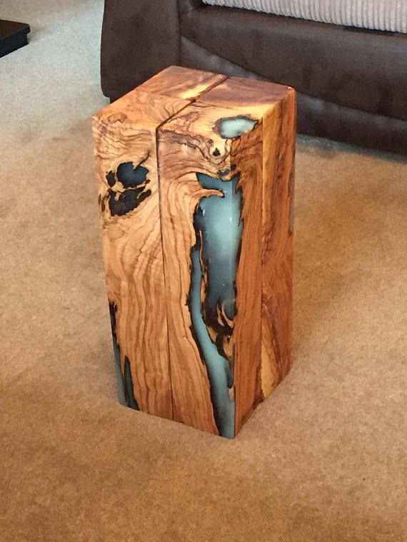 Stunning Glow Blue Epoxy Resin Side Table I Can Make